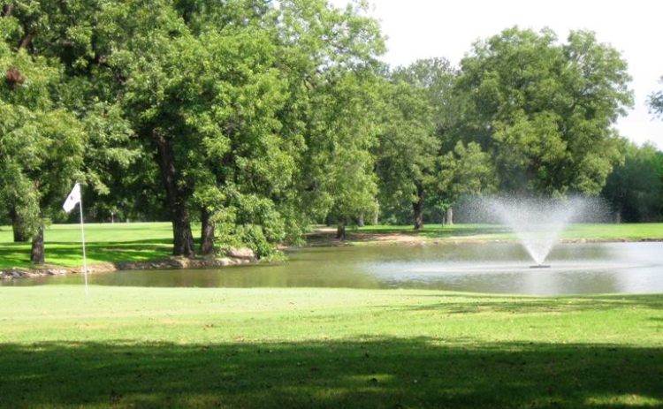 View of a pond on the course at San Saba River Golf Course